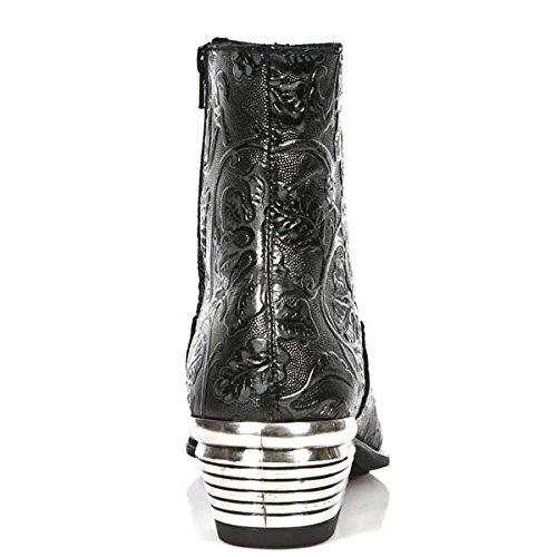 New Rock M Nw131 S1, Bottes Chelsea homme Noir (Vintage Flower Negro/Dallas Negr)