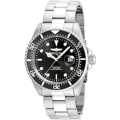 Invicta Pro Diver 22047 - Reloj de pulsera Analogico Hombre correa de Chapado en acero inoxidable Plateado