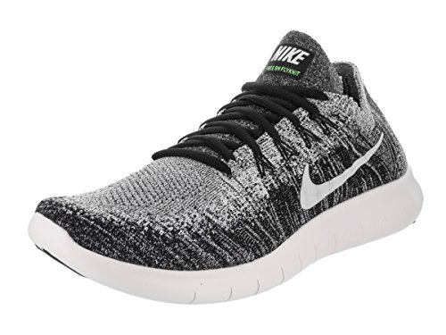 Nike Free Run Flyknit 2017, Chaussures de Running Homme Black/Volt/White