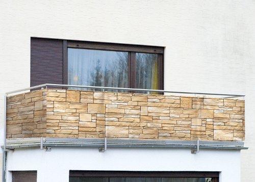 WENKO Balkonumspannung Sichtschutz Mauer
