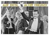 Postkarte A6 +++ LUSTIG von modern times +++ AUF DICH ALTER FREUND +++ ARTCONCEPT Shutterstock/Golden Age