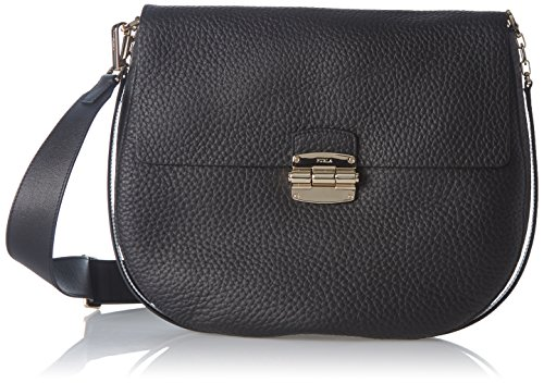 Furla Damen Club Medium Crossbody Umhängetasche, Schwarz (Onyx), 6x28x31 cm