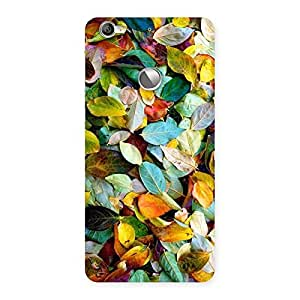 Delighted Beautiful Colorfull Leafs Back Case Cover for LeTV Le 1s