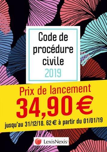 Code de procédure civile 2019 - Ginko: Prix de lancement jusqu'au 31/12/2018, 62.00 ¤ à compter du 01/01/2019 par Loïc Cadiet