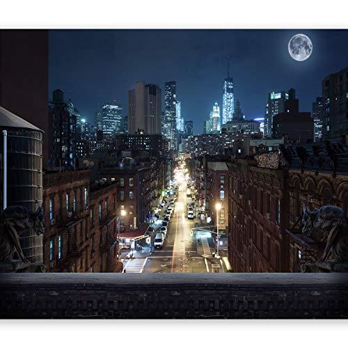 murando Papier peint intissé 250x175 cm Décoration Murale XXL Poster Tableaux Muraux Tapisserie Photo Trompe l'oeil City NY NYC New York ville bei nuit d-A-0028-a-a