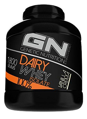 GN Laboratories 100% Dairy Isolate mikrofiltriertes Wheyprotein Isolat Protein Eiweiß Proteinshake Eiweißshake Bodybuilding 1800g (Chocolate - Schokolade)