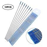 10Pz Elettrodi Per Saldatura,Wl20 Welding Electrodes Blu Basici Acciaio Inox Lantato Elettrodo Tungsteno Di Lantanio 1.0/1.6/2.4mm (1.6 * 150mm)