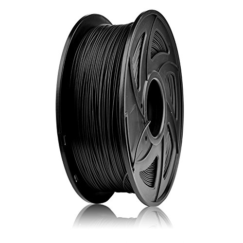 SIENOC 1 Packung 3D Drucker Carbon Fiber Karbonfaser CF 1.75mm Printer Filament - mit Spule 1kg (CF-Filament Schwarz)