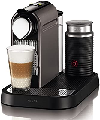 Nespresso Citiz Milk XN 760BPR4, cafetera de cápsulas, 19 bares, Krups, apagado automático, intuitiva, elegante diseño, color titan
