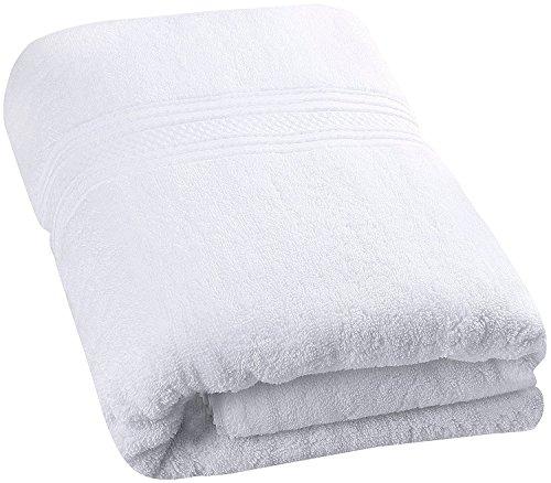 Collection Handtücher Hotel (Badetuch - 700 g/m² - Premium 100% Ringgesponnene Baumwollhandtuch - weich und luxuriös Badewannenblatt (Weiß, 89 x 178 cm) - von Utopia Towels)
