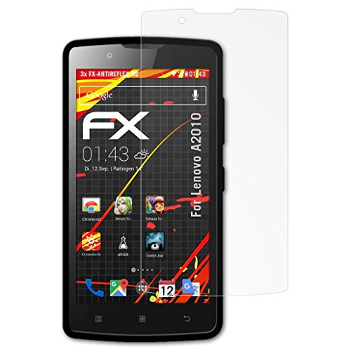 atFolix Schutzfolie kompatibel mit Lenovo A2010 Bildschirmschutzfolie, HD-Entspiegelung FX Folie (3X)