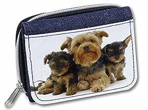 Chien Yorkshire Terrier pour fille/femme avec sac cadeau Motif Denim