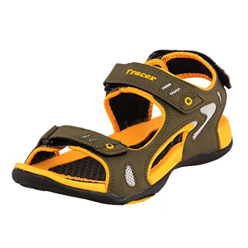 Tracer Men's SD035 Series Khaki / Yellow Synthetic Floater Sandals - 09 UK  available at amazon for Rs.1025