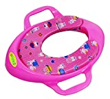 #5: BabyGo Soft Cushion Potty Trainer Comfortable Seat with Support Handles (Pink)