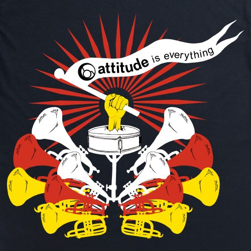 Attitude is Everything Trumpets T-Shirt, Herren Schwarz