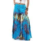 Extrem Weite Damen Hippie Ethno Goa Thai Hose Schlaghose 36 38 40 S M (Türkis)
