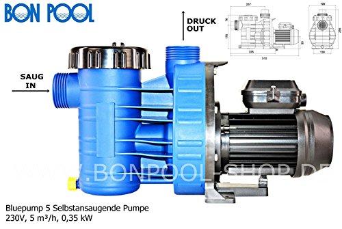 Bon piscine Blue Pompe 5 domestiquepompe auto-amorçante