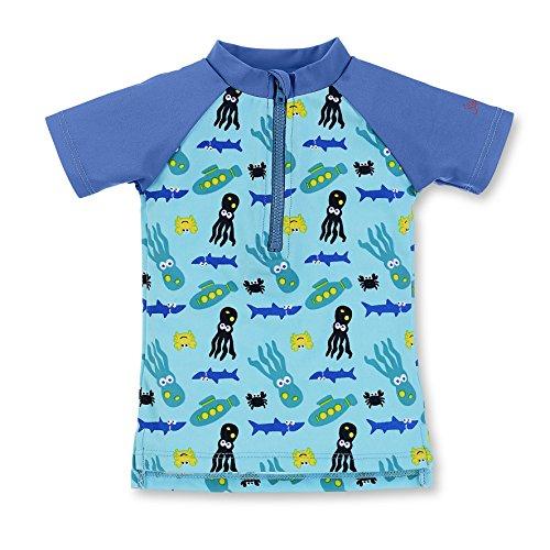 Sterntaler Baby-Jungen Kurzarm-Schwimmshirt, Blau (Aquamarin 427), 80