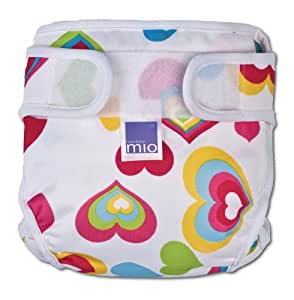 Bambino Mio Miosoft Nappy Cover Heart Newborn <5kgs