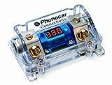 Phonocar 4/490 Sicherungshalter für Maxi Lame-Sicherungen mit Voltmeter ein/aus, 50 mm², Mehrfarbig
