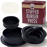 Set 3-en-1 Presse-Hamburger - 2 Tailles + Forme Creuse pour Contenir les Hamburgers
