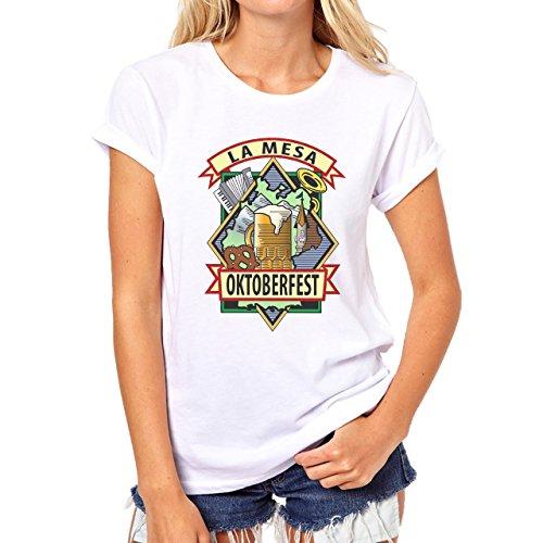 Beer Drink Oktoberfest Glass Festival Damen T-Shirt Weiß