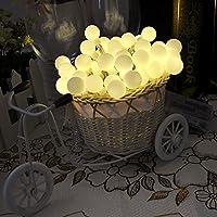 Lychee 4m 40 della batteria della sfera della bolla luci leggiadramente della stringa del LED per Outdoor Wedding coperta Garden Home decorazione della festa di Natale (Bianco Caldo) - 2 Pulsante Di Alimentazione Finestra Interruttore