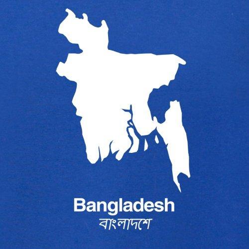 Bangladesh / Bangladesch Silhouette - Damen T-Shirt - 14 Farben Royalblau