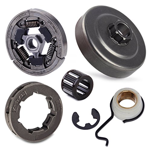 LETAOSK Kettenrad Kupplung Trommelkäfig Lager Schneckengetriebe E-Clip Set Fit For Stihl 044 046 046 MS440 MS460