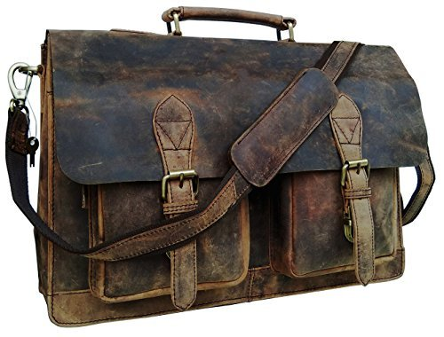 e Männer Umhängetaschen Herren Arbeitstaschen Aktentasche Ledertasche Messenger Bag Notebooktasche Schultertaschen Grau ()
