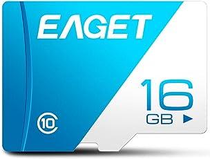 EAGET T1 Micro SD Karte 128 GB 64 GB 32 GB 16 GB Klasse 10 High Speed UHS-I Flash TF Micro SDXC Speicherkarte für Smartphones Tablet