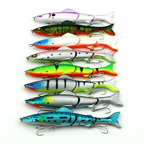 Ahead 117,7g/12,5cm weich Köder Fisch Angeln Köder Shad 3D Eye Weich Minnow Köder Swimbaits Kunststoff Lure Pasca Angeln Tackle 3Teile (Locken Kunststoff Körper)