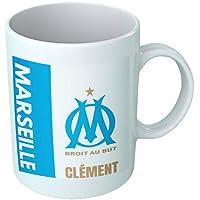 Mug tasse personnalisé Olympique de Marseille et prénom - Cadeau personnalisé pour les amateurs de foot - Tasse…