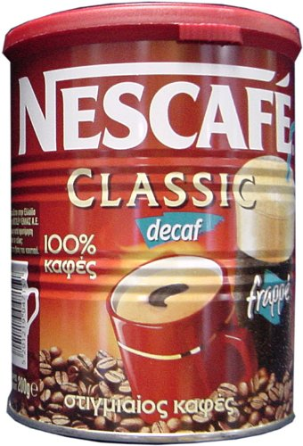 Greek Nescafe Classic Decaf Instant Frappe Coffee 100 gr