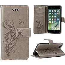 OFU Funda Piel para XiaoMi RedMi Note 5A Prime Smartphone Case,Soporte Plegable, Billetera para Tarjetas, Cierre Magnetico,Flip Cover Cuero PU Case Cartera con Ranuras(Gris)