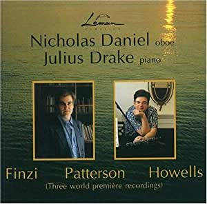 Finzi; Howells; Patterson - Works for Oboe and Piano