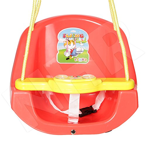 Archana NHR Attractive and Sturdy Baby n Toddler Swing with Light and Music (Red) Battery included