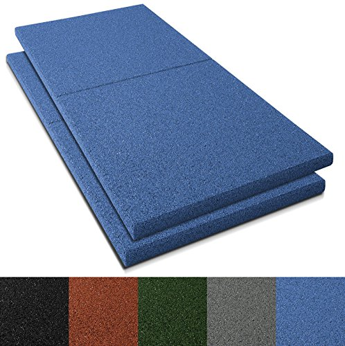 Fallschutzmatten Play Protect Plus | extragroß | blau | Fallschutz made in Germany | einzeln oder im 2er Set (2 Stück: 100 x 100 cm)