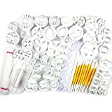 68 pieces Cake/Cookie Decorating Sugarcraft Cutters, smoothers and Plungers - Flower Leaf Shapes [version:x5.1] by DELIAWINTERFEL