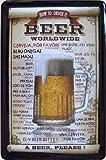 """""""How to order a beer worldwide"""" Kneipen Bar Deko Blechschild"""