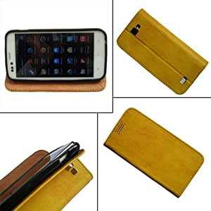 i-KitPit - PU Leather Flip Case Cover Gionee M2 (YELLOW)