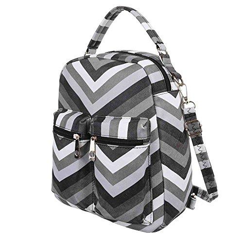Damen Tasche, Kleine Freizeit Backpack Tasche, Kunstleder, TA-3356 Grau