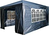 Airwave 3 x 4m Party Tent Gazebo Marquee with Unique WindBar and Side Panels 120g Waterproof Canopy, Blue, 120g