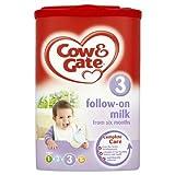 Cow & Gate la leche de continuación de seis meses Etapa 3 6 x 900 g