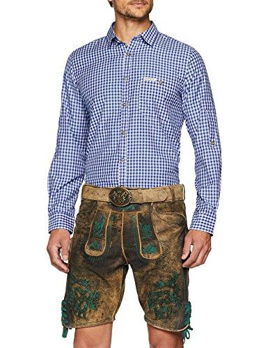 Stockerpoint Herren Trachtenhemd Campos3, (Blau), XX-Large