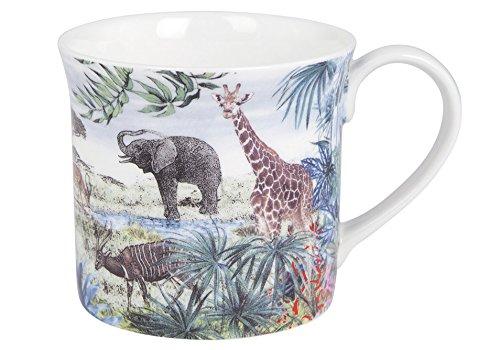 Ashdene Jungle Kingdom - Savanna - Fine Bone China Cup Mug Porzellantasse Tasse Becher tazza taza 8cm 260ml, Gift box, best quality, ASHDENE, Australia Bone China Cup 8