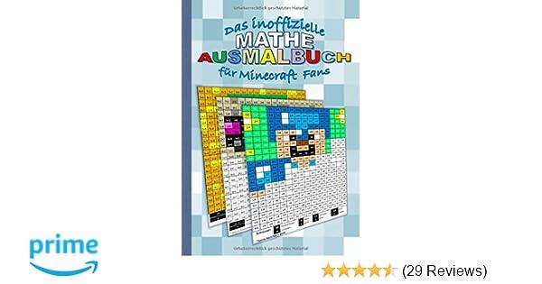 Das Inoffizielle Mathe Ausmalbuch Für Minecraft Fans übungsbuch Für
