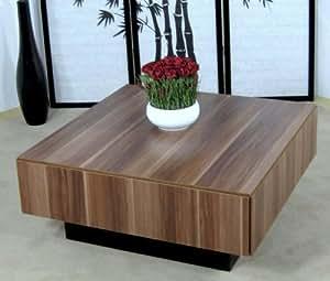 Couchtisch kernnuss nussbaum tisch wohnzimmertisch for Wohnzimmertisch amazon
