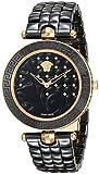 """Versace orologio da donna casual """"Vanitas quarzo svizzero in acciaio inox e ceramica, colore: nero (modello: vao040016)"""