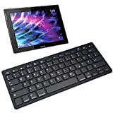 NAUC Wireless Bluetooth Tastatur Keyboard für Medion Lifetab X10302 P10400 P10356